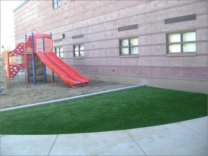 School Playground with Slide