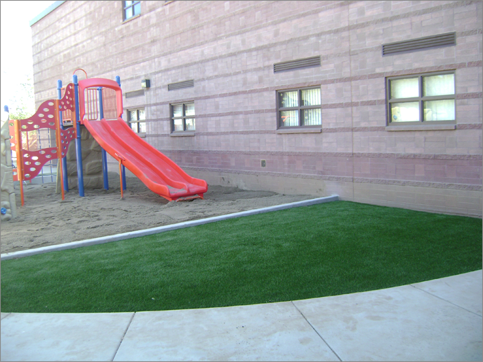 School Playground with Slide